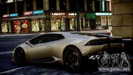 Lamborghini Huracan LP850-4 2014 Wheelsandmore para GTA 4 left