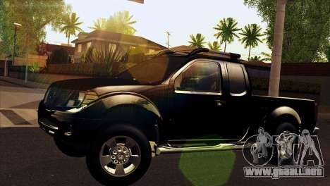 Nissan Frontier 2013 para GTA San Andreas vista posterior izquierda