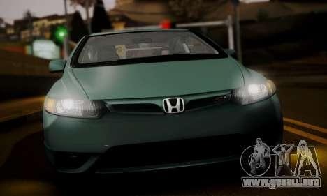 Honda Civic SI 2006 para GTA San Andreas vista posterior izquierda