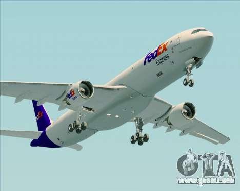 Airbus A330-300P2F Federal Express para visión interna GTA San Andreas