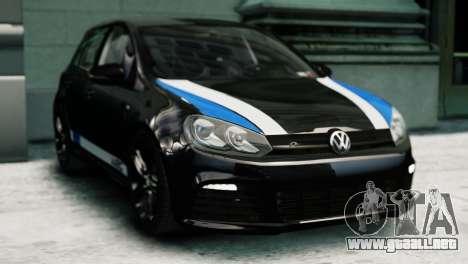 Volkswagen Golf R 2010 Polo WRC Style PJ1 para GTA 4 Vista posterior izquierda