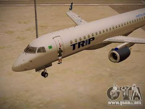 Embraer E190 TRIP Linhas Aereas Brasileira para visión interna GTA San Andreas