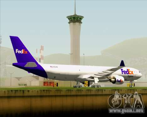 Airbus A330-300P2F Federal Express para la vista superior GTA San Andreas