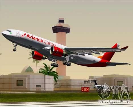 Airbus A330-243F Avianca Cargo para vista lateral GTA San Andreas