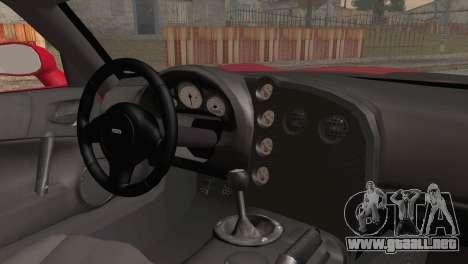 Dodge Viper SRT-10 2003 para GTA San Andreas vista posterior izquierda