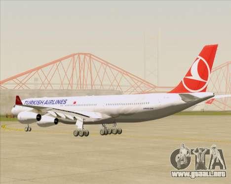 Airbus A340-313 Turkish Airlines para la visión correcta GTA San Andreas