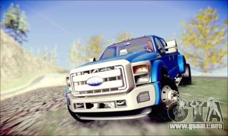 Ford F450 Super Duty 2013 HD para GTA San Andreas vista hacia atrás