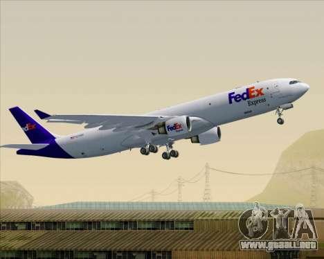 Airbus A330-300P2F Federal Express para las ruedas de GTA San Andreas