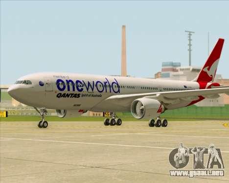Airbus A330-200 Qantas Oneworld Livery para GTA San Andreas left
