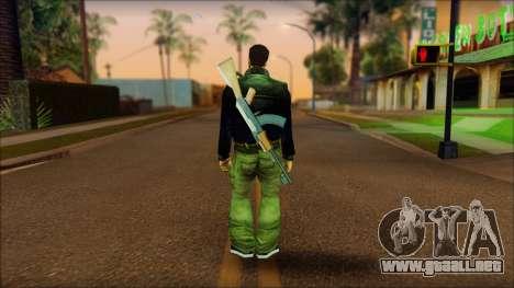 Gun and No Shades Claude para GTA San Andreas segunda pantalla