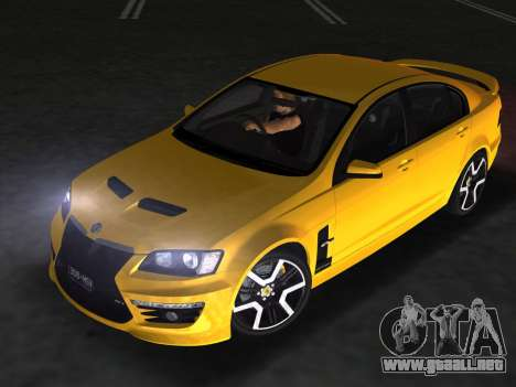 Holden HSV GTS 2011 para GTA Vice City vista interior