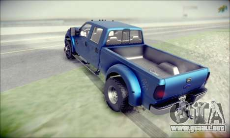 Ford F450 Super Duty 2013 HD para GTA San Andreas vista posterior izquierda