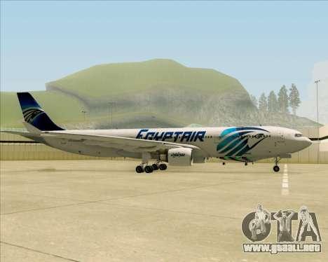 Airbus A330-300 EgyptAir para GTA San Andreas vista hacia atrás
