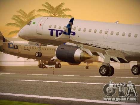 Embraer E190 TRIP Linhas Aereas Brasileira para las ruedas de GTA San Andreas