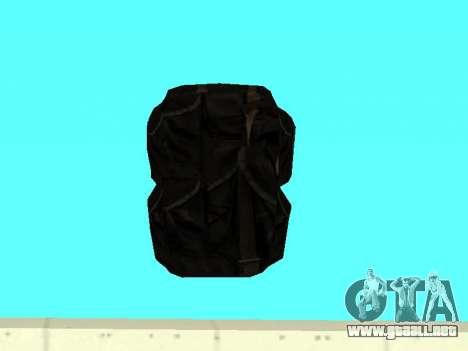 Negro en la mochila de Stalker para GTA San Andreas tercera pantalla