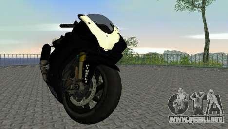 Aprilia RSV4 2009 Black Edition para GTA Vice City left