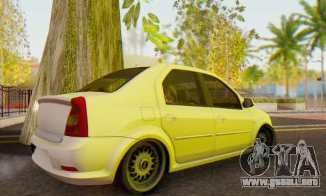 Dacia Logan White para GTA San Andreas vista posterior izquierda
