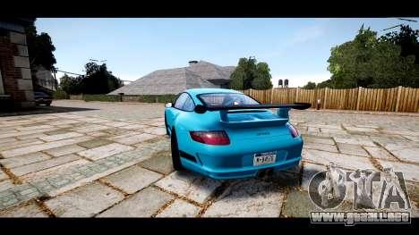 Porsche 911 GT3 RS para GTA 4 Vista posterior izquierda