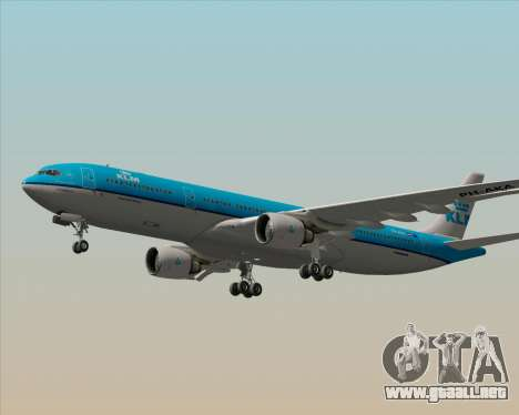 Airbus A330-300 KLM Royal Dutch Airlines para vista inferior GTA San Andreas
