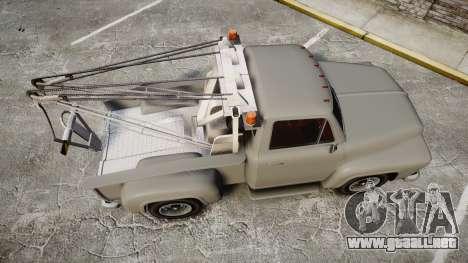 Vapid Tow Truck Jackrabbit para GTA 4 visión correcta