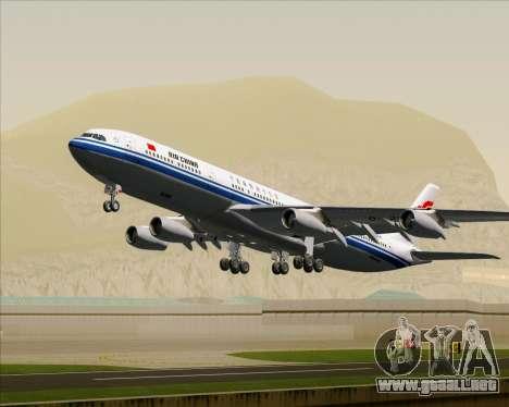 Airbus A340-313 Air China para las ruedas de GTA San Andreas