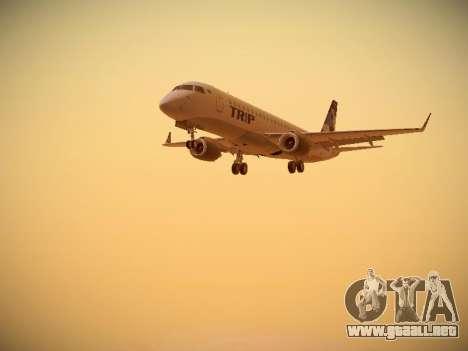 Embraer E190 TRIP Linhas Aereas Brasileira para GTA San Andreas left
