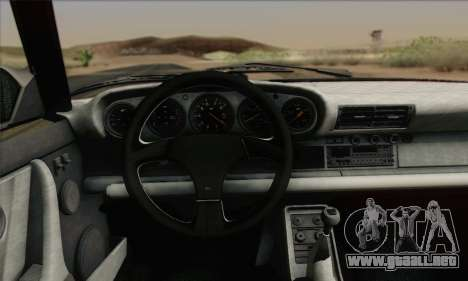 RUF CTR Yellowbird 1987 para visión interna GTA San Andreas