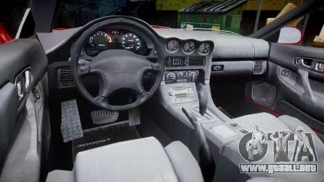 Mitsubishi 3000GT Tuner para GTA 4 vista hacia atrás