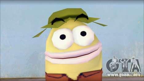 Campguy from Sponge Bob para GTA San Andreas tercera pantalla