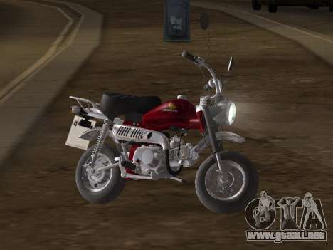 Honda Z50J Monkey para visión interna GTA San Andreas