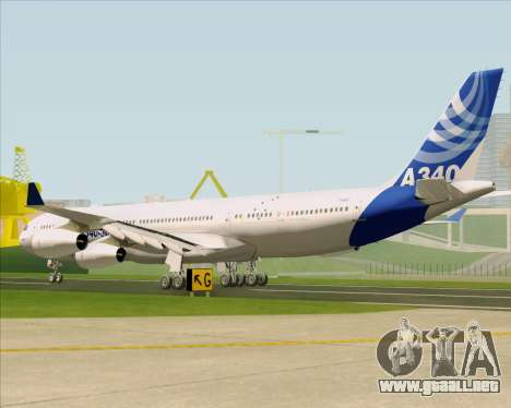 Airbus A340-311 House Colors para GTA San Andreas vista posterior izquierda