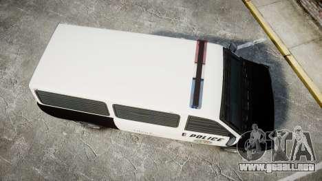 Declasse Burrito Police Transporter LED [ELS] para GTA 4 visión correcta