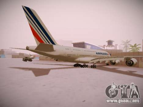 Airbus A380-800 Air France para la visión correcta GTA San Andreas