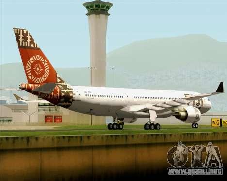 Airbus A330-200 Fiji Airways para la visión correcta GTA San Andreas