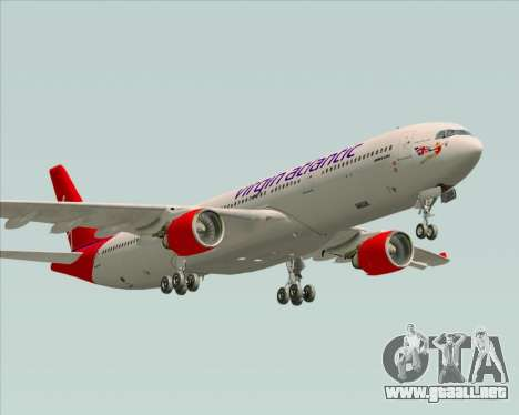 Airbus A330-300 Virgin Atlantic Airways para vista lateral GTA San Andreas