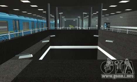 Una nueva estación de metro en San Fierro para GTA San Andreas octavo de pantalla