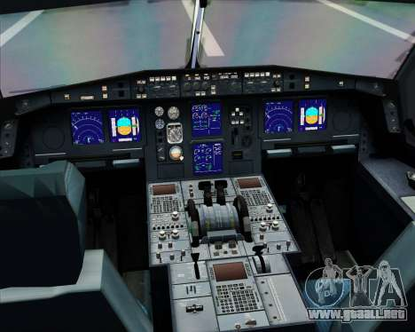 Airbus A330-300 Virgin Atlantic Airways para GTA San Andreas interior