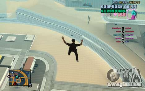 C-HUD GTA Vice City edited SampHack para GTA San Andreas tercera pantalla