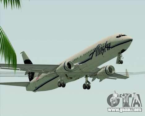 Boeing 737-890 Alaska Airlines para vista inferior GTA San Andreas