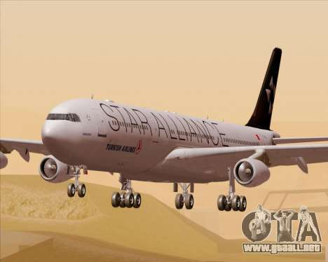 Airbus A340-311 Turkish Airlines (Star Alliance) para GTA San Andreas
