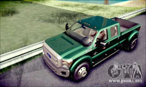 Ford F450 Super Duty 2013 HD para vista lateral GTA San Andreas