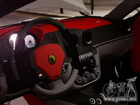 Ferrari 599 GTO para GTA 4 vista interior