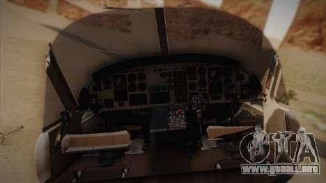Bell UH-1N Twin Huey USMC para GTA San Andreas vista posterior izquierda