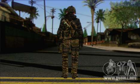 Task Force 141 (CoD: MW 2) Skin 8 para GTA San Andreas segunda pantalla