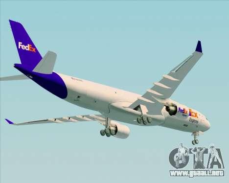 Airbus A330-300P2F Federal Express para la visión correcta GTA San Andreas
