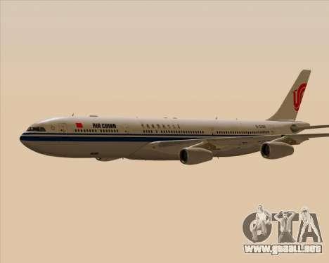 Airbus A340-313 Air China para la vista superior GTA San Andreas