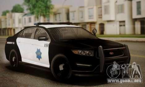 Vapid Police Interceptor from GTA V para las ruedas de GTA San Andreas