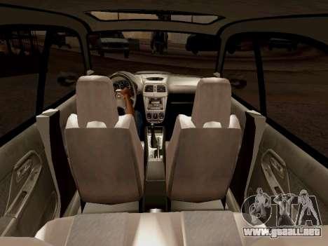 Subaru Impreza Wagon 2002 para visión interna GTA San Andreas