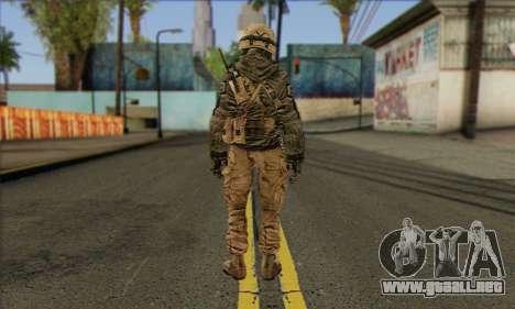 Task Force 141 (CoD: MW 2) Skin 17 para GTA San Andreas segunda pantalla