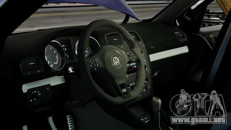 Volkswagen Golf R 2010 ABT Paintjob para GTA 4 vista interior